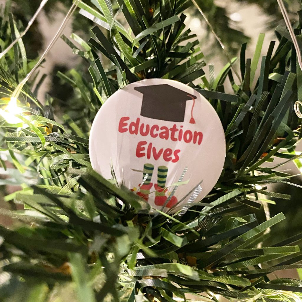 Education Elves pin badges