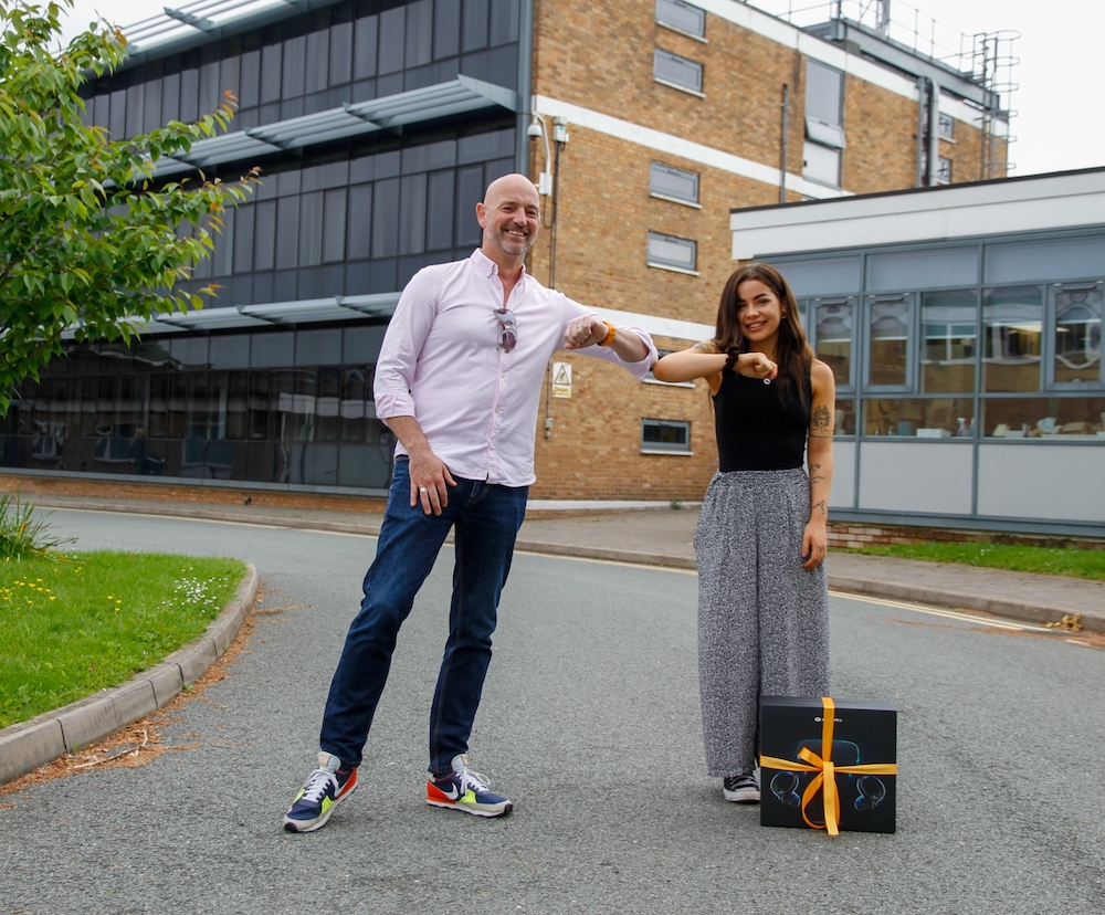 Product Design student Rose Meredith and Evoke Creative CEO, Neil Clark