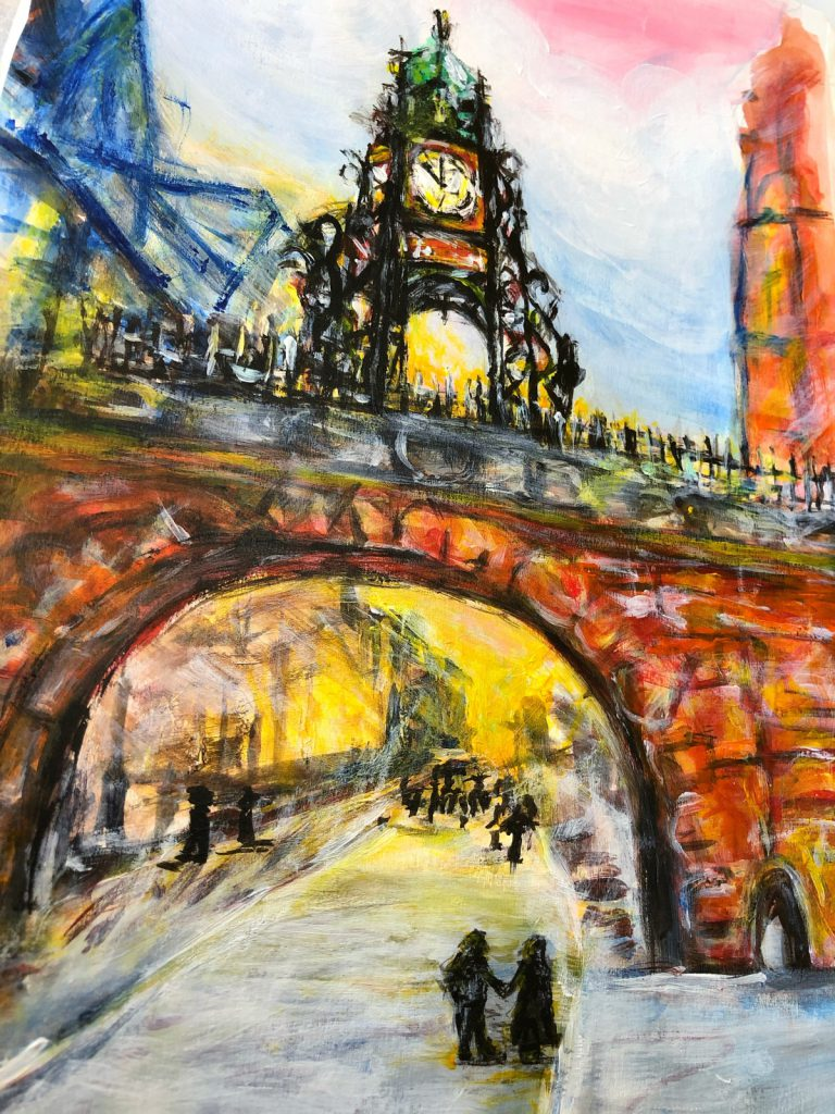 Chester Sunset painting by Nataliia Marchuk